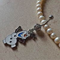 Olaf Belly Ring Navel Ring Stainless Steel Body Jewelry