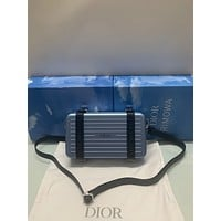 DIOR AND RIMOWA TRUNK BOX INCLINED SHOULDER BAG