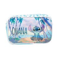 Licensed cool Disney Lilo & Stitch Beach Ohana Means Family Cosmetic Make-Up Tote Bag Purse