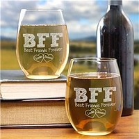 BFF Wine Glass Set