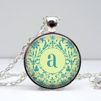 Damask Initial Necklace