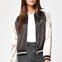 Kendall and Kylie Two-Tone Satin Bomber Jacket at PacSun.com