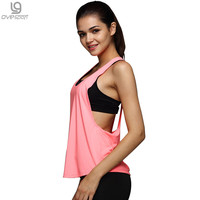 8 Summer Colors Sexy Women Tank Tops Quick Dry Loose Fitness Movement Sleeveless Vest Singlet for Exercise Workout T-shirt 1033