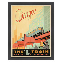Chicago L Train Travel Poster, Posters