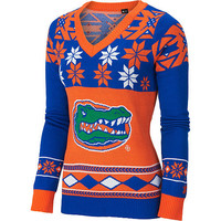 "Florida Gators Women's Official NCAA ""Big Logo"" V-Neck Sweater by Klew"