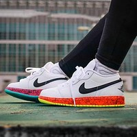 Air Jordan 1 Low GS Rainbow Low Basketball Shoes