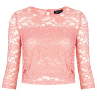 1/2 Sleeve Floral Lace Top - New In This Week - New In - Topshop USA