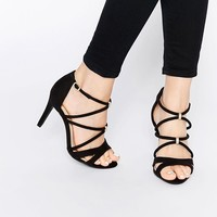 New Look Wide Fit | New Look Wide Fit Strappy Heeled Sandals at ASOS