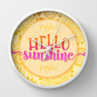 Hello Sunshine Wall Clock by Noonday Design
