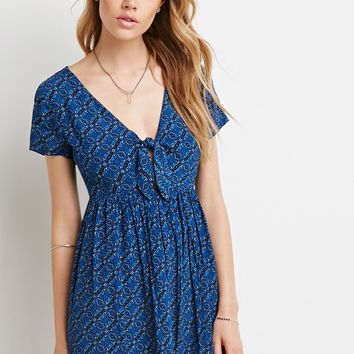 Knotted Front Tile Dress