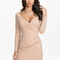 Long Sleeve Wrap Bodycon, NLY One