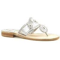 Hamptons Jack Sandal in Silver by Jack Rogers