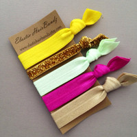 The Autumn Hair Tie Ponytail Holder Collection by Elastic Hair Bandz on Etsy