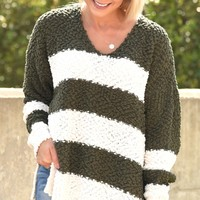 Playing For Keeps Sweater -  Olive