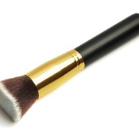 Professional Multifunction Flat Top Synthetic Kabuki Makeup Foundation Brush Black