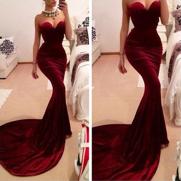 Sexy Women Fashion Evening Party Ball Prom Gown Formal Cocktail Long Dress SML