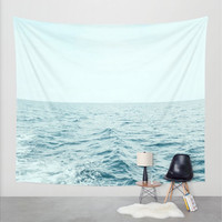 Wall Tapestry, Ocean Sea Waves Wall Hanging, Coastal Beach Wall Art, Large Photo Wall Art, Modern Tapestry, Home Decor