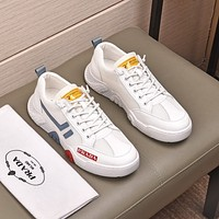 prada men fashion boots fashionable casual leather breathable sneakers running shoes 50