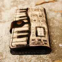 Father's Day Gift / Unisex NEW iPhone 5 Wallet leather hand stitched , iPod , iTouch case - iSynth