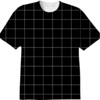 Black Grid Tee created by A PAOM Designer | Print All Over Me