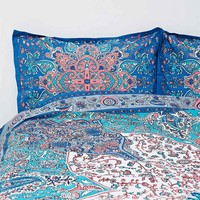 Dandelion Medallion Duvet Cover Set in Blue - Urban Outfitters