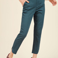 Delighted Foresight Pants in Dusk   Mod Retro Vintage Pants   ModCloth.com
