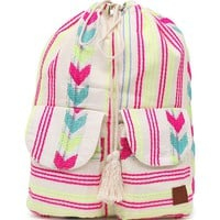 Billabong Wild Cinched School Backpack - Womens Handbags - White - One