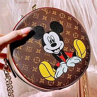 LV New fashion mouse monogram print leather chain shoulder bag crossbody bag