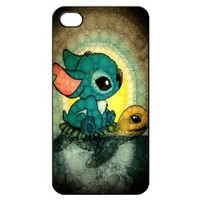 Stitch and Turtle Hard Back Shell Case Cover Skin for Iphone 4 4g 4s Cases - Black/white/clear