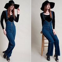 vintage 80s denim overalls vintage 1980s sexy navy blue denim overalls by fredericks of hollywood fitted scoop neck denim overalls/jumpsuit