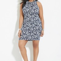 Plus Size Abstract Print Dress