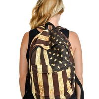 Distressed Usa Backpack