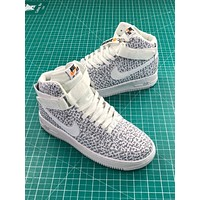 Just Do It Nike Air Force 1 High Lx White Sport Shoes