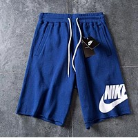 Nike Popular Men Women Casual Sports Running Shorts Blue