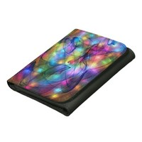 Rainbow Glowing Lights Leather Wallets