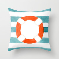 Starboard Social Throw Pillow by Social Proper