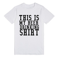 THS IS MY BEER DRINKING SHIRT