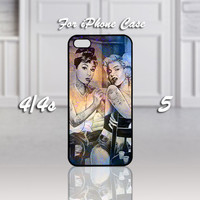 Audrey Hepburn and Marilyn Monroe Tattooed, Design For iPhone 4/4s Case or iPhone 5 Case - Black or White (Option)
