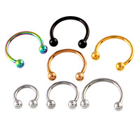 10PCS Colorful  Steel Horseshoe  Nose Septum Rings Ear Rings Body Piercing Nariz Jewelry Piercng 3 Sizes available