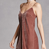 Brushed Velvet Slip Dress