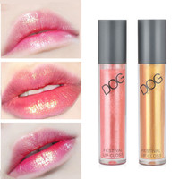 Luxury Lip Makeup Shimmer Lip Gloss Glitter Glossy Liquid Lip Tint Glow Gold / Nude Peach Color Luminous Lipgloss