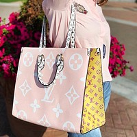 Louis Vuitton LV Fashion Print Leather Handbag Shoulder Bag