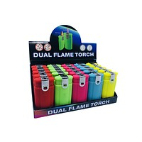 Dual Flame Lighter & Torch (Pack of 2)