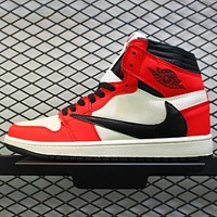 AJ 1 Air Jordan 1 Retro High AJ1 Reverse Hook Up High-Top Sneakers Shoes