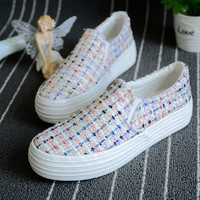 Womens Fashionable Pattern Slip-On Sneakers