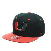 Licensed Miami Hurricanes Official NCAA Z11 Youth Adjustable Hat Cap by Zephyr 400326 KO_19_1