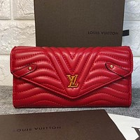 Louis Vuitton LV Fashion Women Leather Purse Wallet
