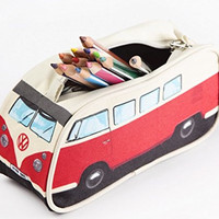 VW Volkswagen T1 Camper Van Pencil Case - Red - Multiple Color Options Available