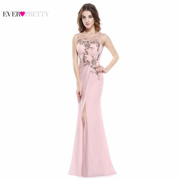 Bridesmaid Dresses Ever Pretty Fashion 2017 Chiffon EP08850 Sleeveless Bridesmaid Dress Padded Long Mermaid Bridesmaid Dresses