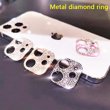 Suitable for iPhone 12 mobile phone diamond lens film metal diamond camera lens frame